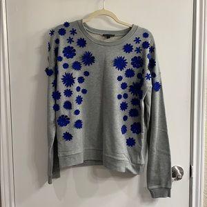 J. Crew flower sweatshirt